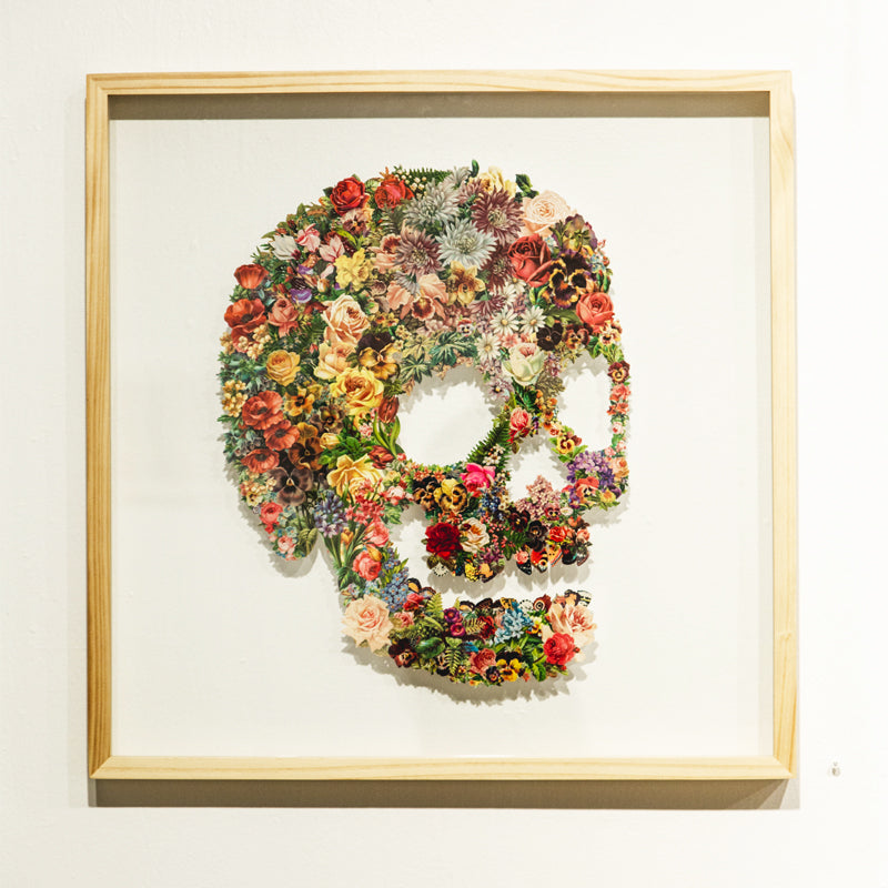 Mike Combs // Floral Skull 01