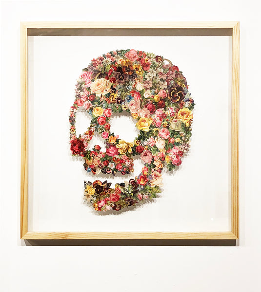 Mike Combs // Floral Skull 02