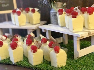 Pots D'Or Artisanal Durian Pudding (Mini Party Pack) | Planning a party? Surprise your guests with these elegant durian pudding shooters, that are as delicious as they are memorable. Topped with seasonal fruit and hand-made chocolate bark.