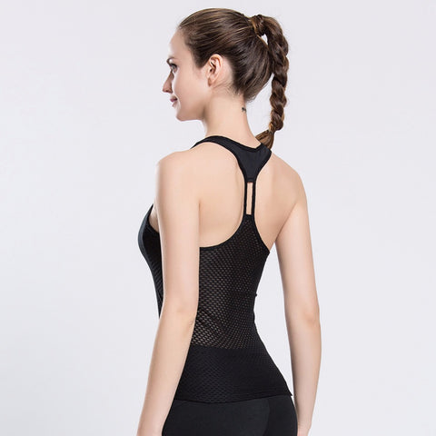Breathable Vestback Top vistory active main image black