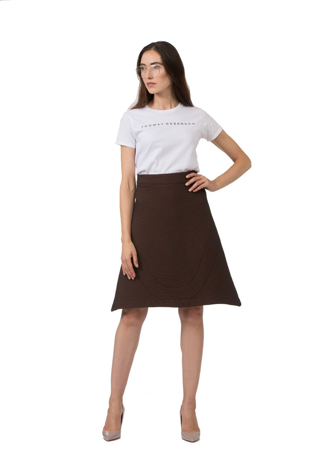 Chocolate Brown A-Line Skirt