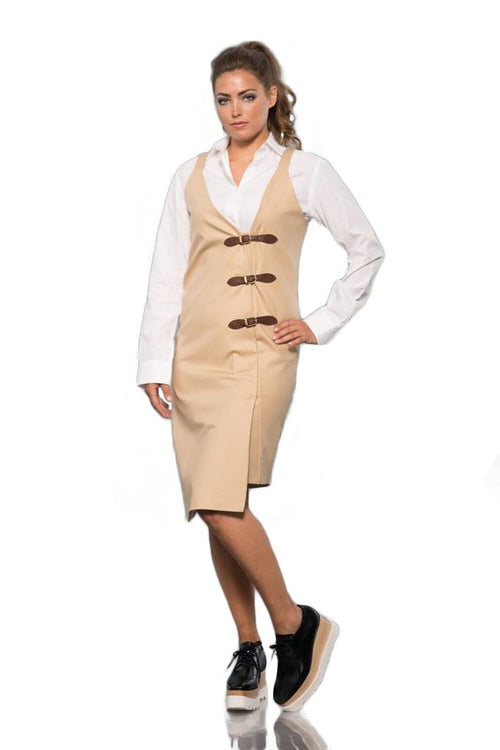 Vest Dress with Buckles