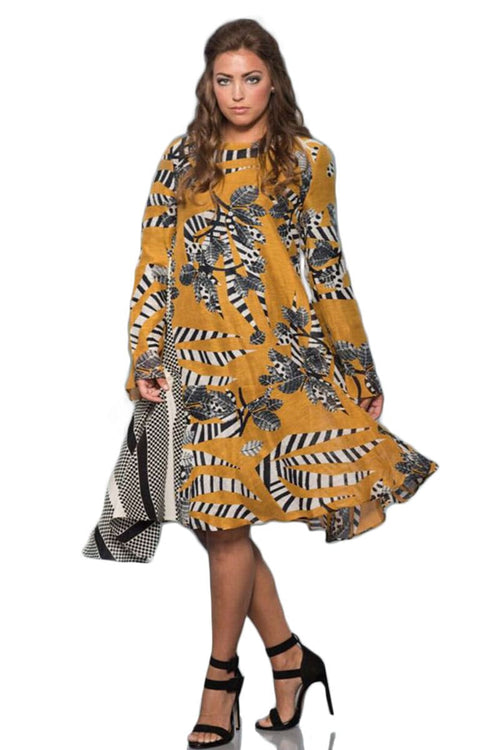 Yellow A-Line Flare Dress