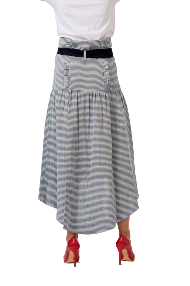 Hi-Low Denim Skirt