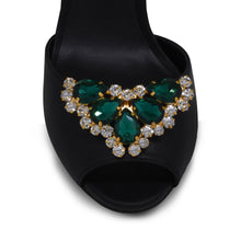 nova emerald Shoe Clip on Accessory by Trendyva  top view