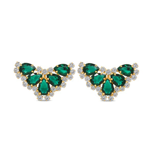 nova emerald Shoe Clip on Accessory by Trendyva  pair view