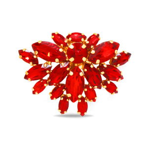 zinnia red crystal Shoe Clip on Accessory by Trendyva single view