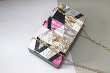 Acrylic Geometric Patchwork Clutch