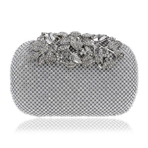Flower Crystal Evening Clutch