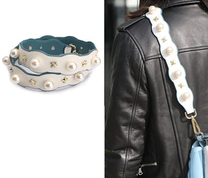 Pearl and Studs Handbag Strap