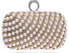 Ring Pearl Evening Clutch