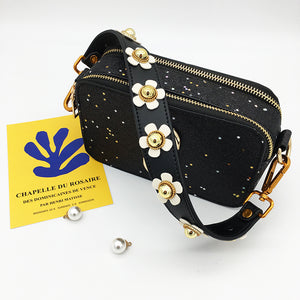White Flower Bag Strap
