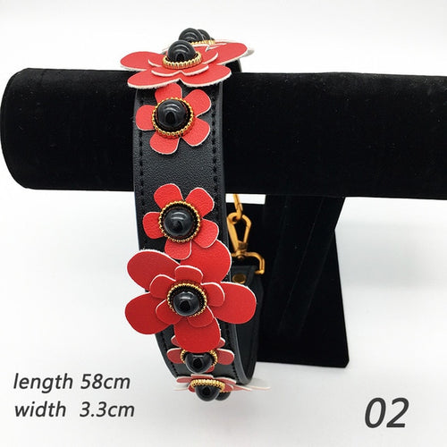 Red Flower Bag Strap