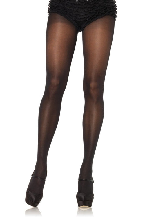 Leg Avenue 0992Q Opaque Cotton Crotch Pantyhose
