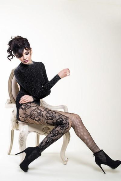 Yelete 168YD058 Killer Legs Rising Roses Tights