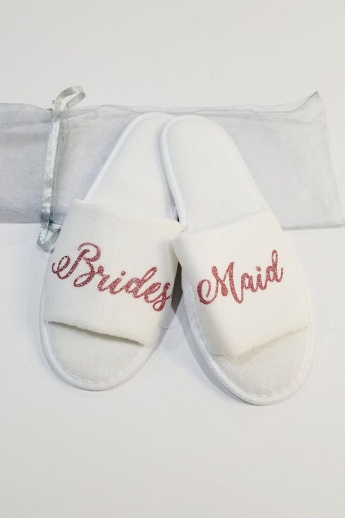 Sleepy Cottage Brides Maid Slippers