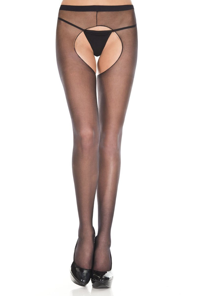 a2ff4f0ef20 Music Legs 801 Sheer Crotchless Pantyhose – Beverly Hills Hosiery