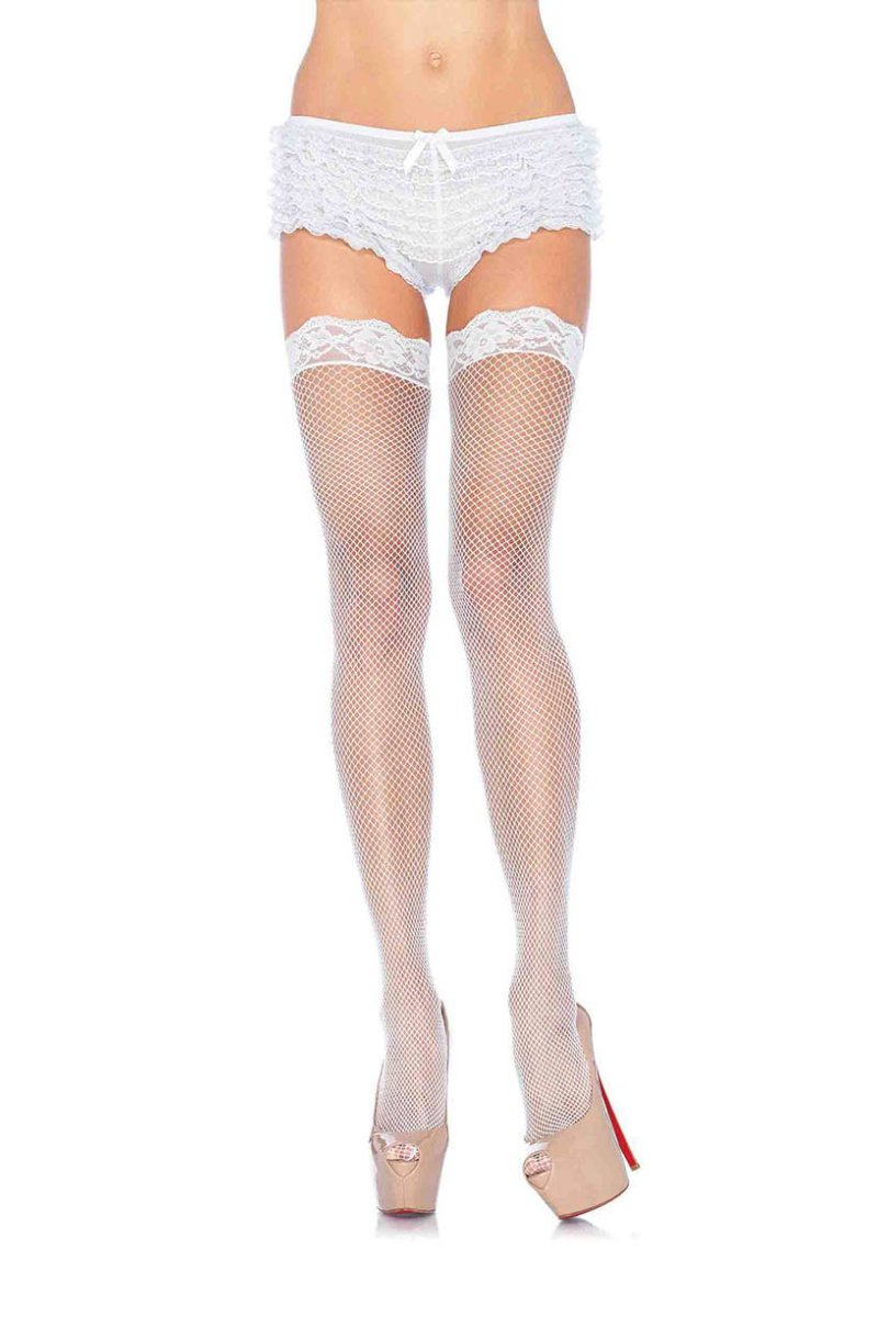 Leg Avenue 9027 Fishnet Lace Top Thigh Hi