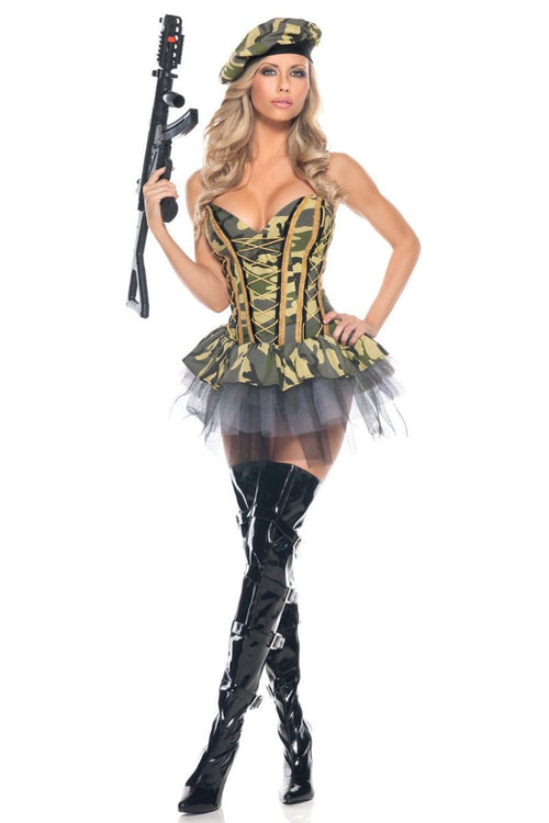 Be Wicked 3 Piece Commando Costume BW1056