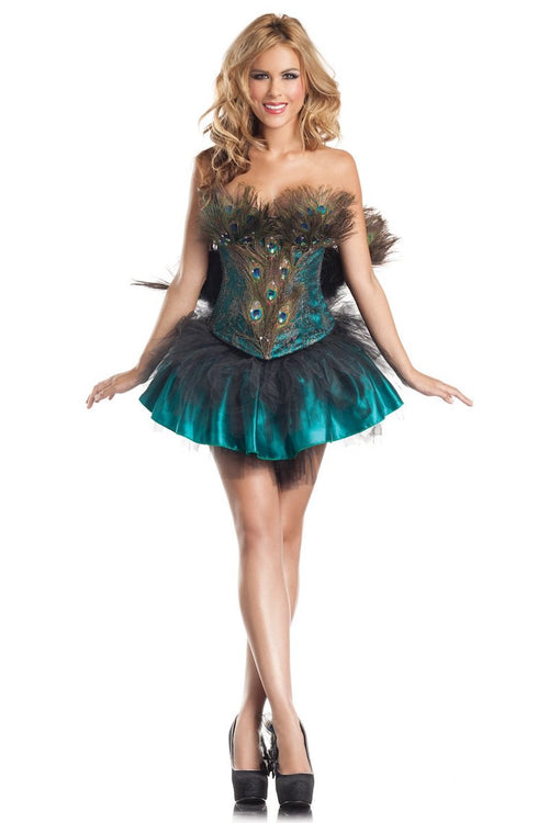 Be Wicked 4 Piece Princess Peacock Costume  BW1290