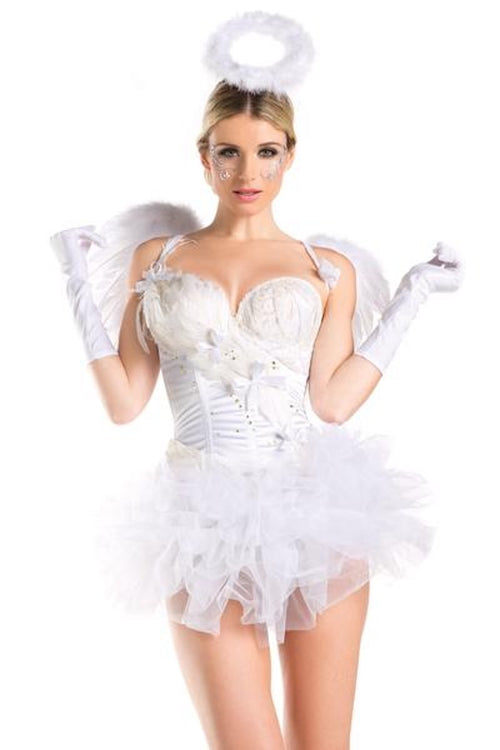 Be Wicked 2 Piece 2 For 1 White Swan / Angel  Costume BW1429C (White Wing, Halo, White Gloves Sold Separately)