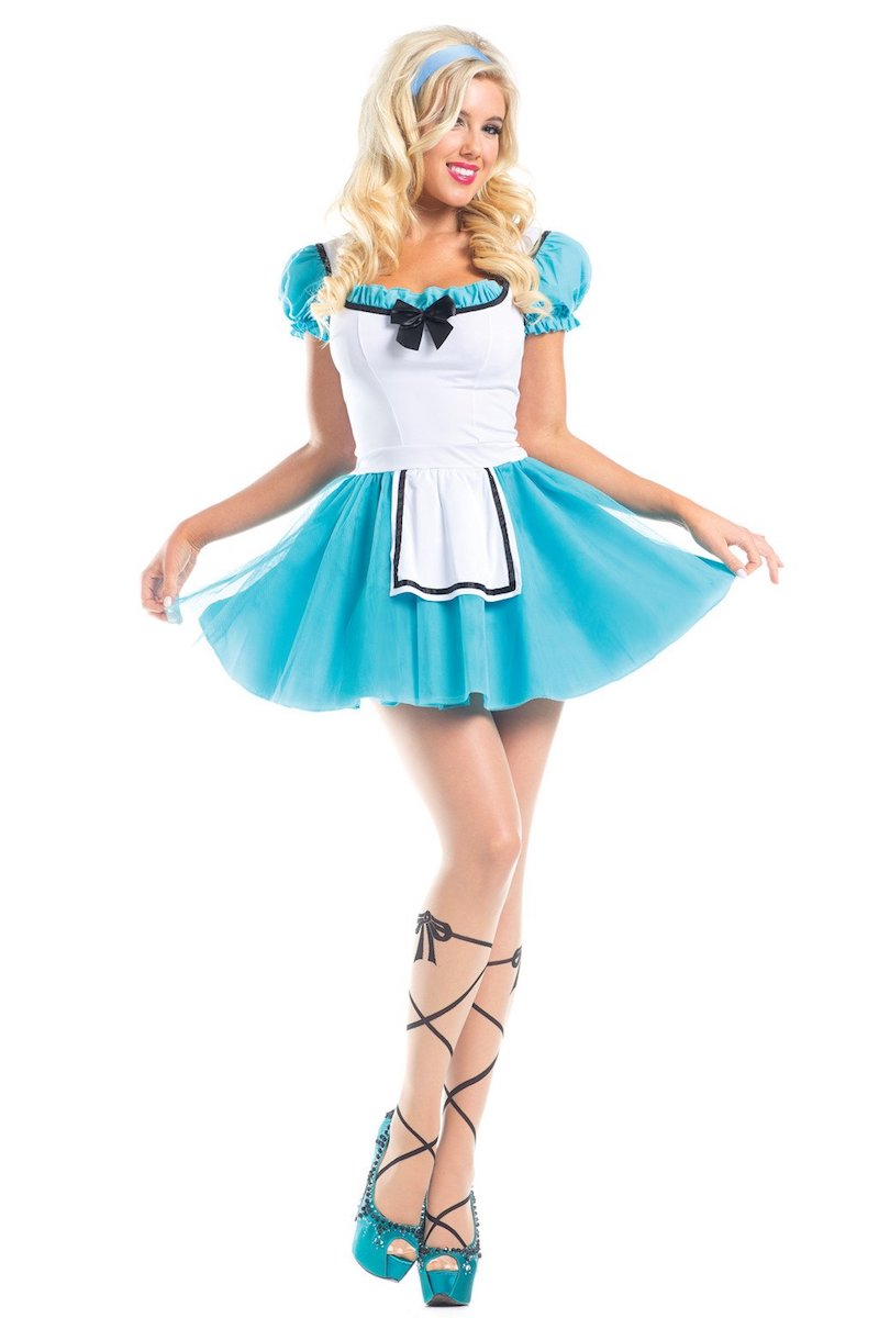 93f01fb59a7cf Be Wicked 2 Piece Wonderland Hero Costume BW1543 – Beverly Hills Hosiery