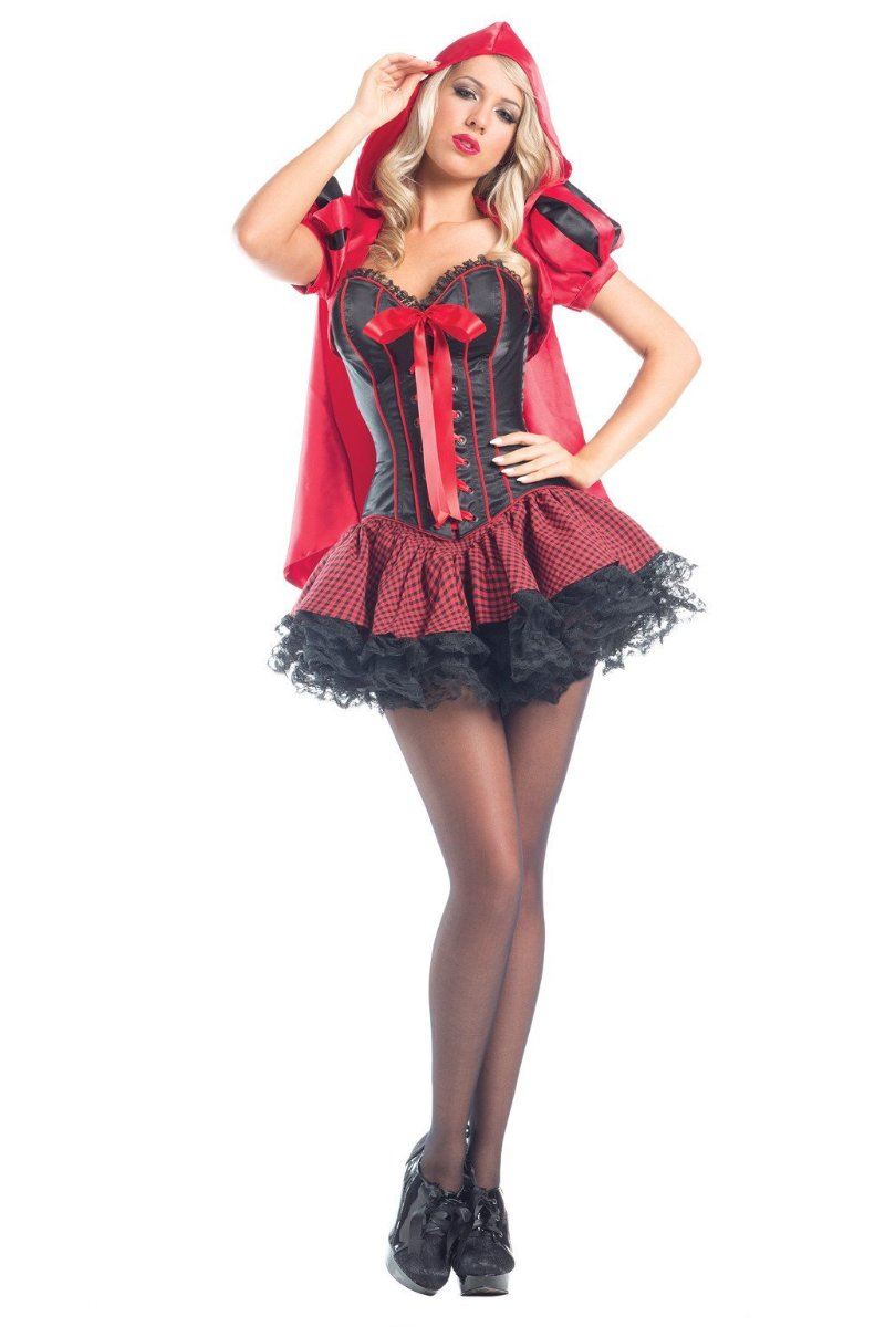 Be Wicked 6 Piece Sassy Riding Hood Costume BW1556