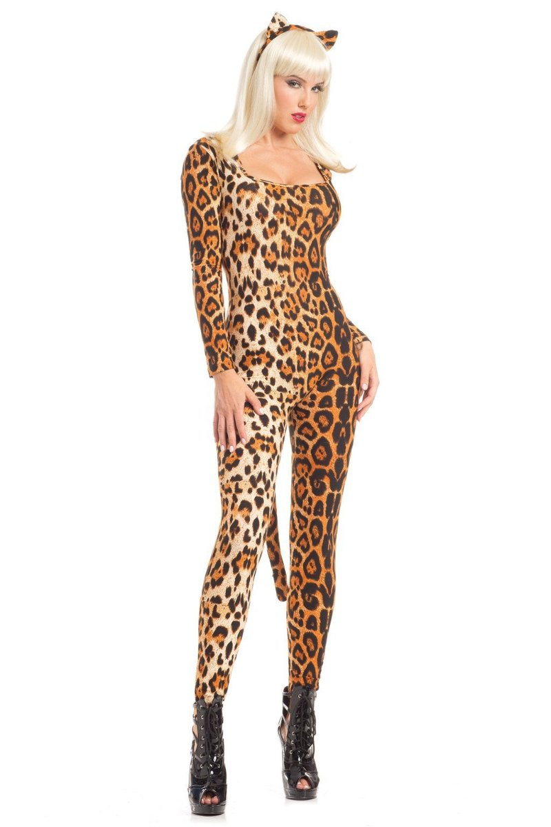 Be Wicked 3 Piece Loveable Leopard Catsuit BW1599