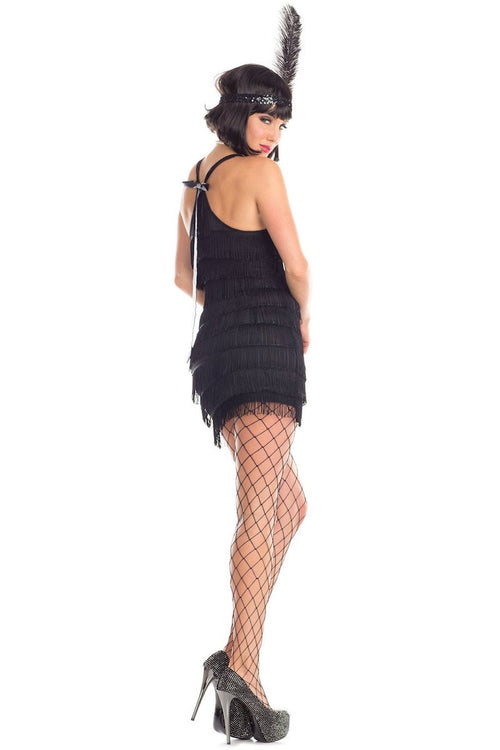 Be Wicked 2 Piece Flirtatious Flapper Costume BW1671