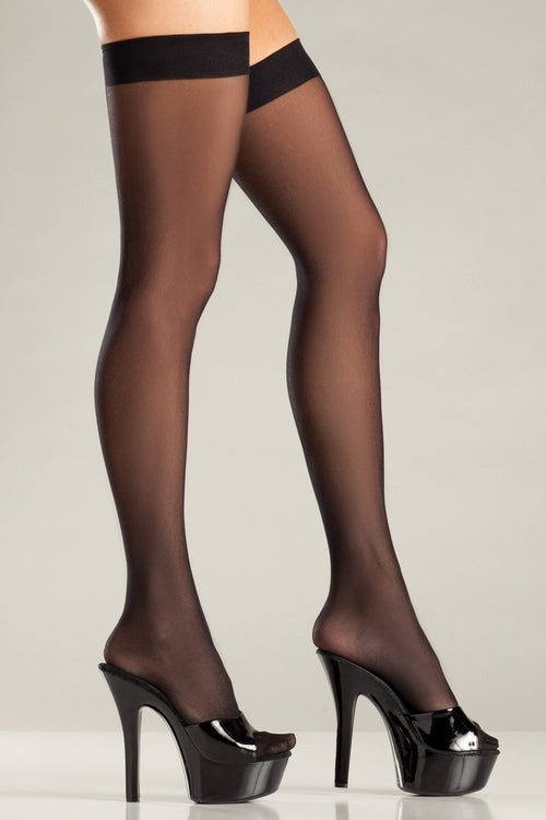 Be Wicked BW562 Sheer Thigh Hi