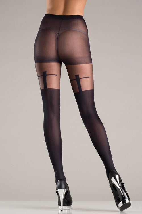 Be Wicked BW724 Shadow Cross Pantyhose