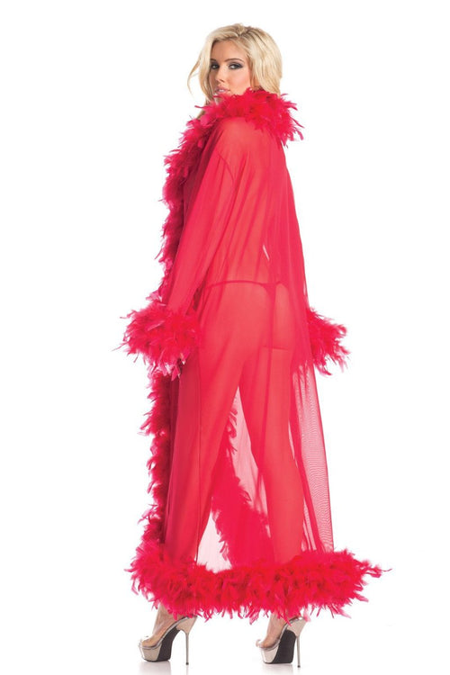 Be Wicked BW834R Glamour Robe Red