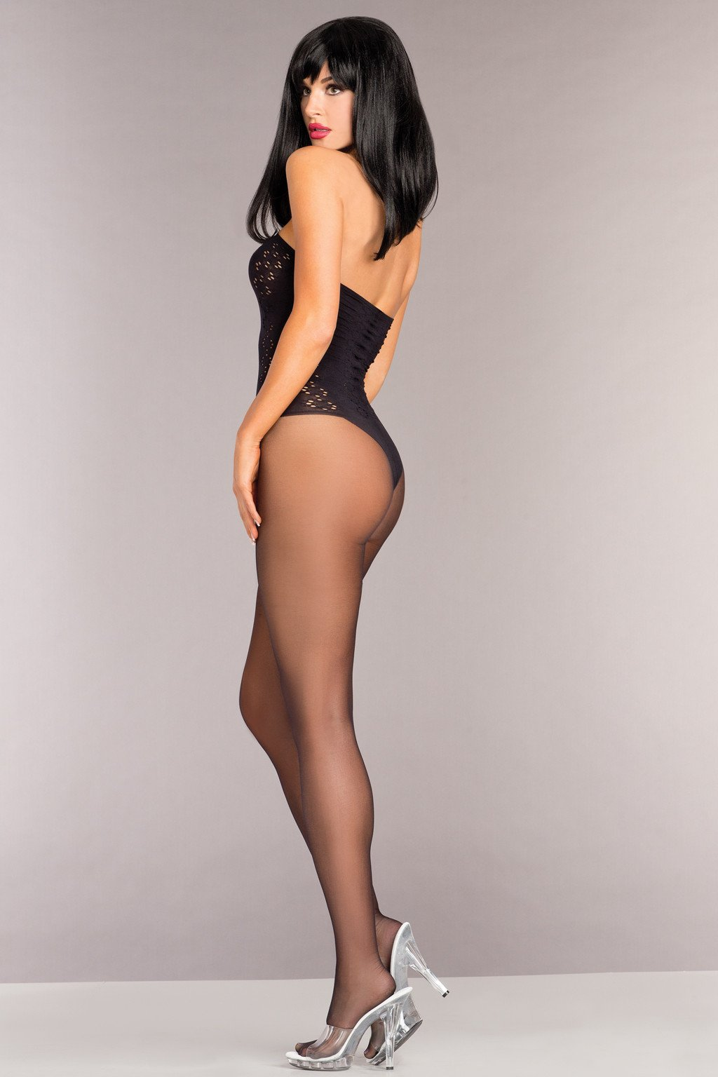 378d86b4b Be Wicked BWB96 Opaque Strapless Bodystocking – Beverly Hills Hosiery