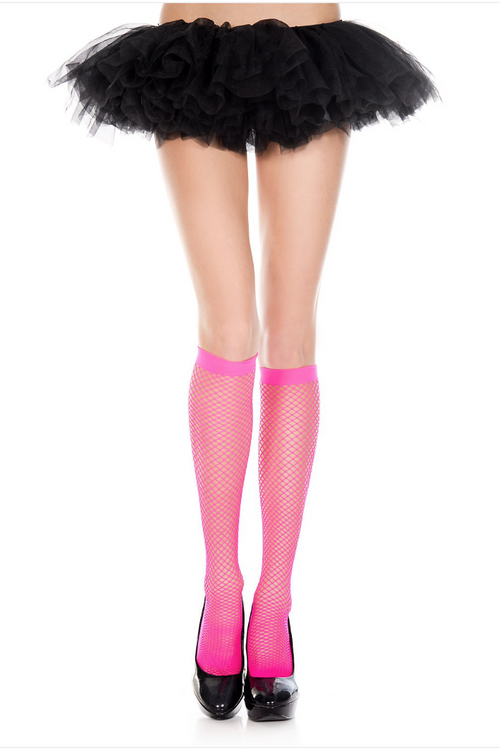 Music Legs 5782 Crochet Diamond Knee Hi with Enforced Heel