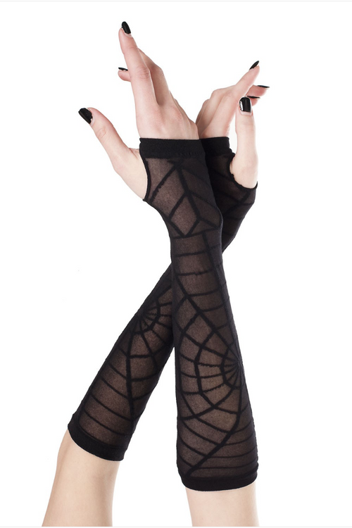Music Legs 448 Sheer Spider Web Arm Warmers