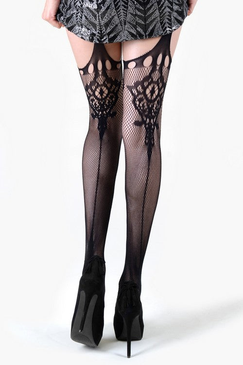 Yelete 168YD085Q Killer Legs Spanish Fan Tights