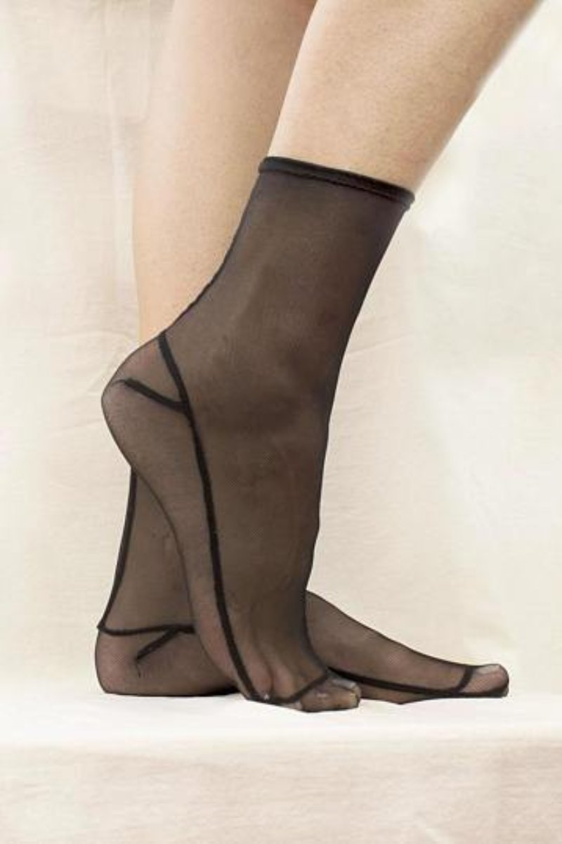 Tatiana Mesh Sheer Sock
