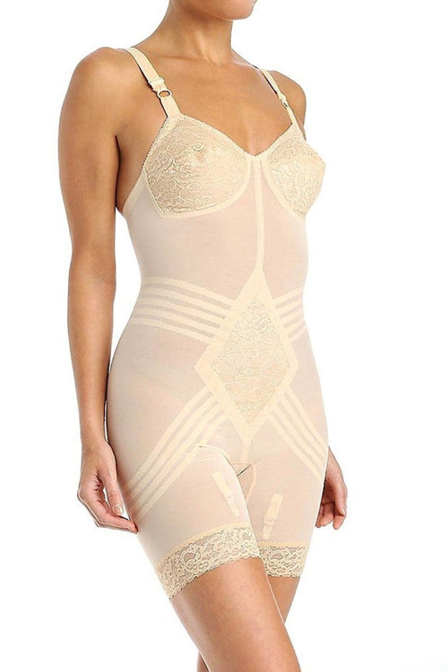 Rago 9071 Body Brief 1 Piece Short Beige Cups D and DD