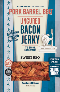 Sweet BBQ Bacon Jerky - 12 Pack Case