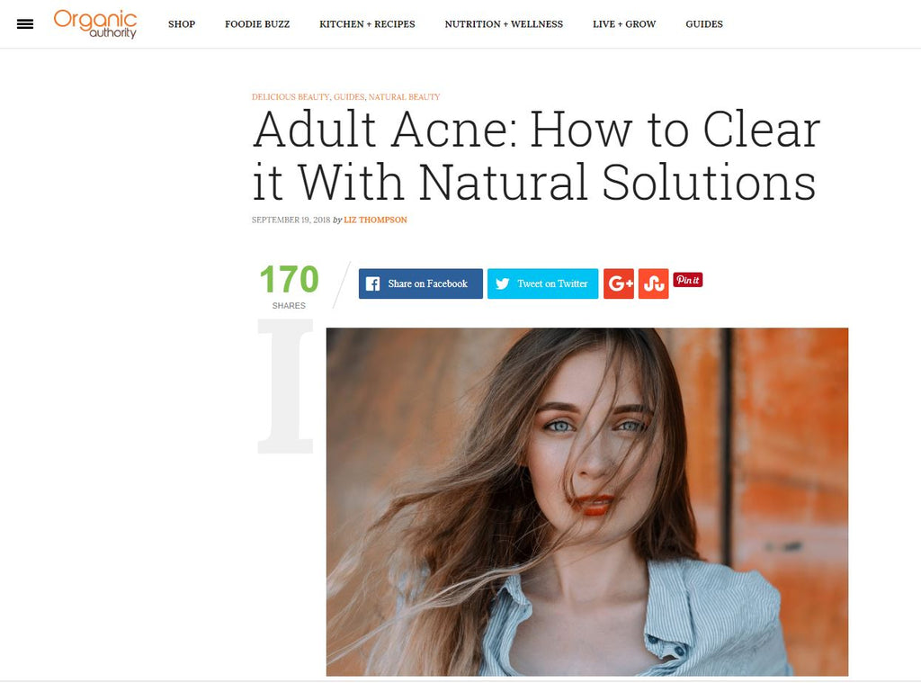 Organic Authority x Navago - Adult Acne: How to Clear it With Natural Solutions