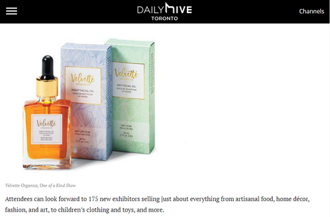 Daily Hive Toronto One of a Kind Spring Show 2018 Velvette Organics
