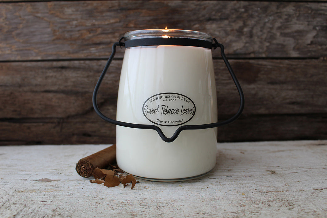 Sweet Tobacco Leaves Milkhouse 22oz Candle