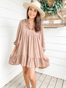 Jada Embroidered Dress
