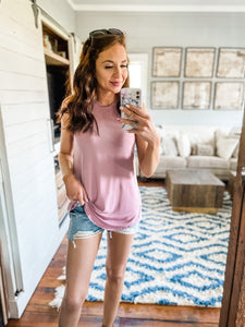 Light Rose Dina Basic Tank Top