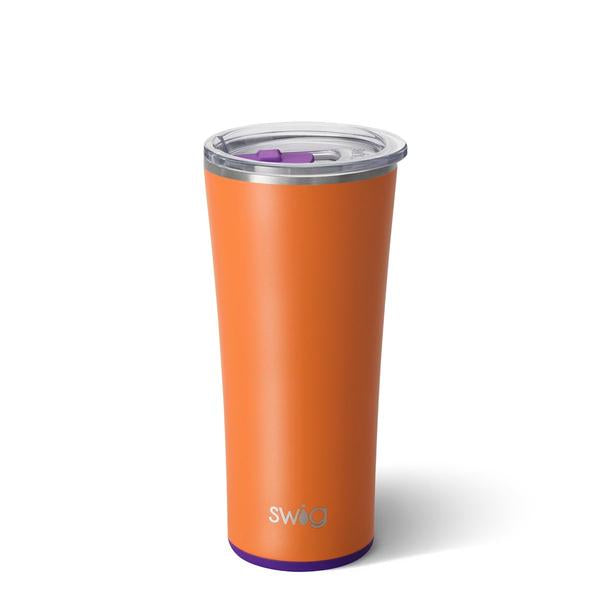 Swig 22oz Matte Orange and Purple Tumbler