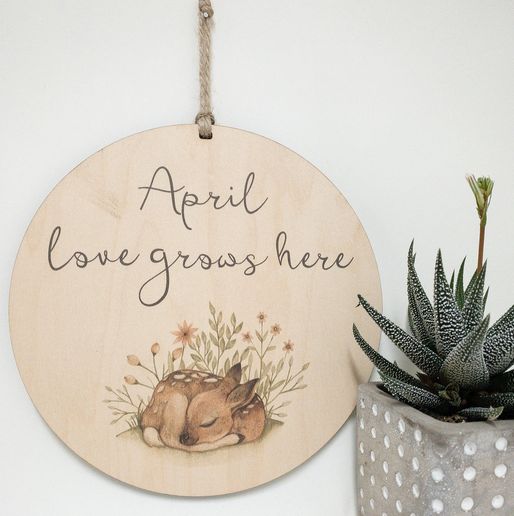 Personalized Quote, Love Grows Here_urban nest decor