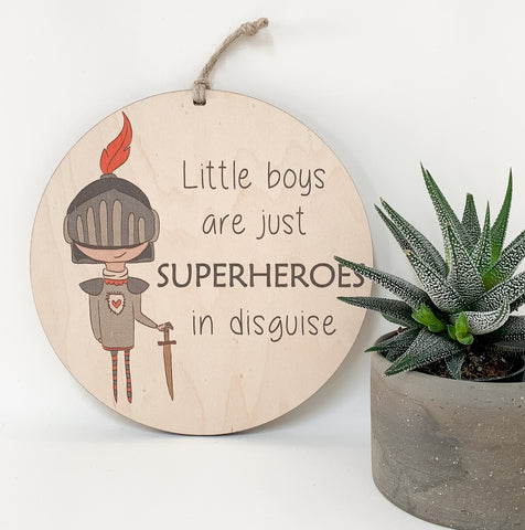 Little boys are just superheroes in disguise_urban nest decor