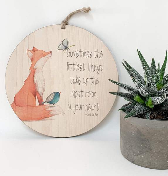 Sometimes the littlest things take up the most room in your heart_urban nest decor