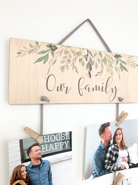 Our family photo display made by urban nest decor