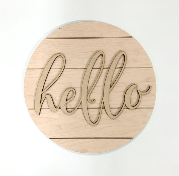 Do it yourself sign kit. Ready to stain or paint. Laser cut words